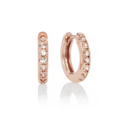 Rose Gold Huggie Hoop Earrings