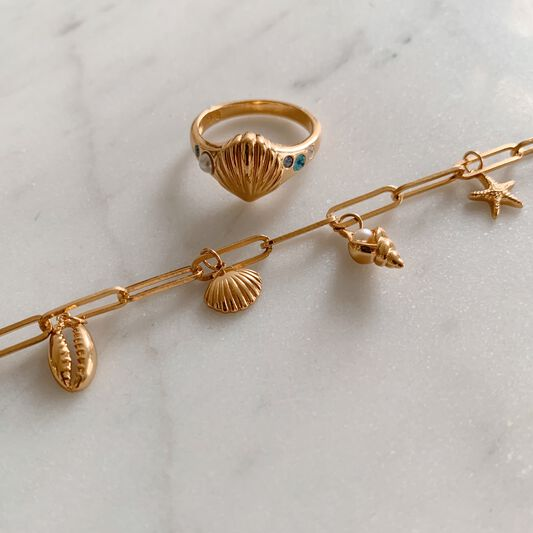 Under The Sea Gold Charm Bracelet