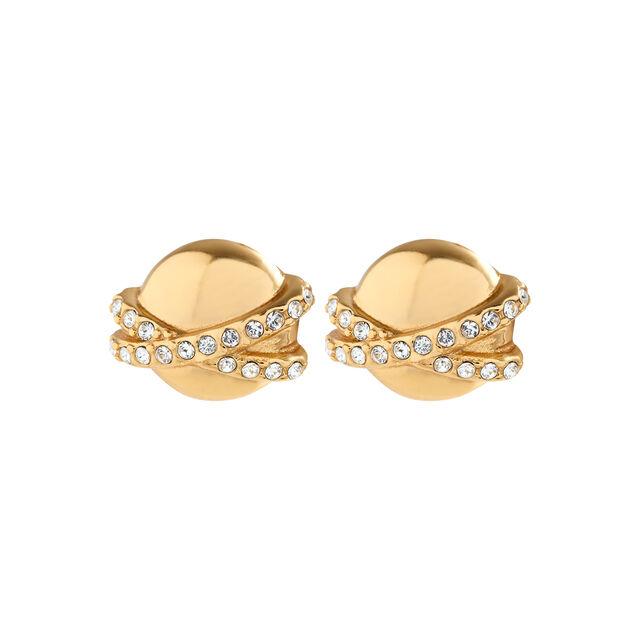 Planet Gold Stud Earrings