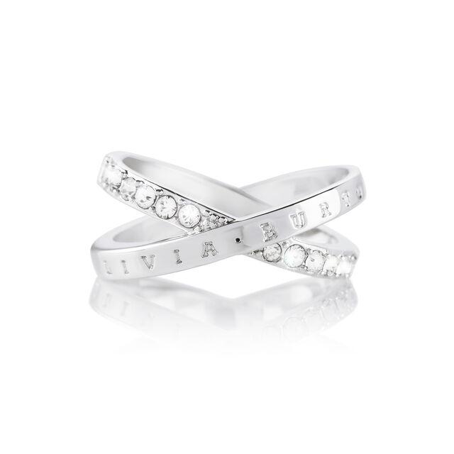 Bejewelled Interlink Ring Silver (M)