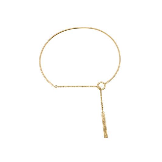 Engravables Drop Bar Bracelet Gold