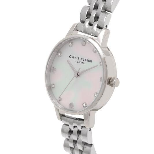 Midi Classic Pearl Dial Silver Bracelet Watch