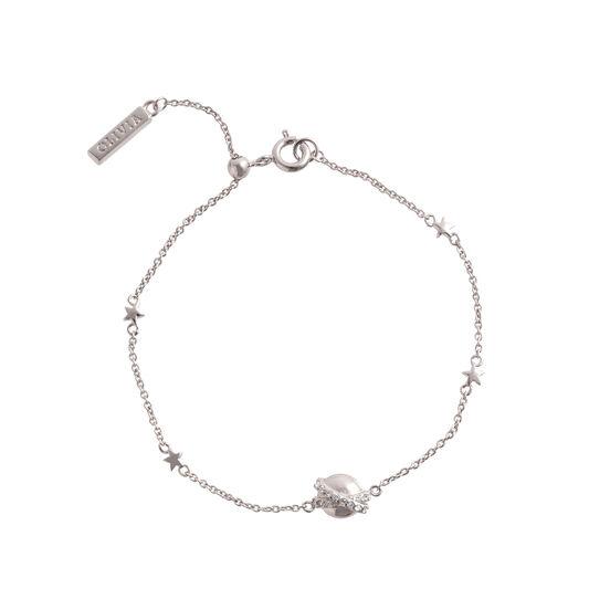 Planet Silver Chain Bracelet