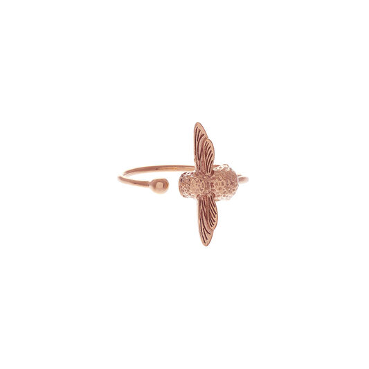 3D Bee Ring Rose Gold