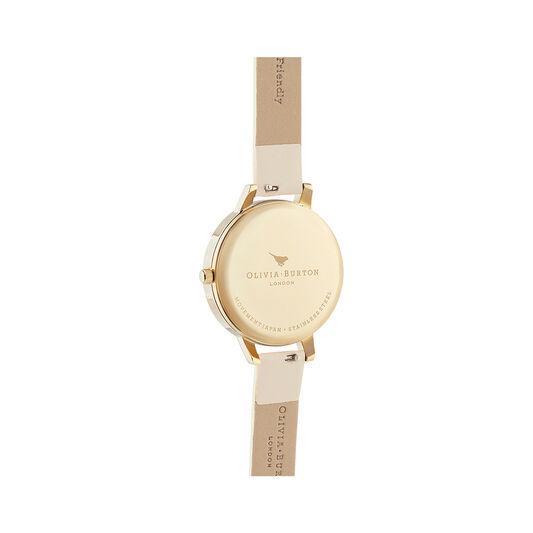 Sunlight Florals Vegan Cream & Gold Watch