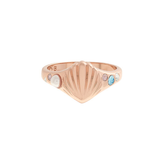 Under The Sea Rose Gold Signet Ring