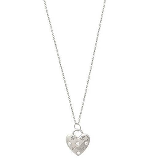 Classic Heart Silver Necklace