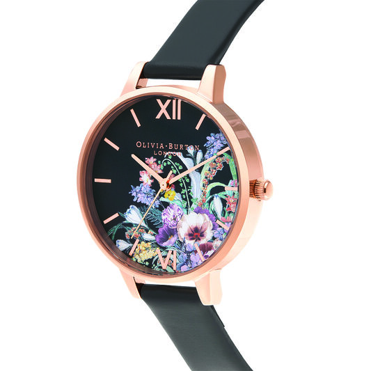 Enchanted Garden Vegan Black & rose Gold