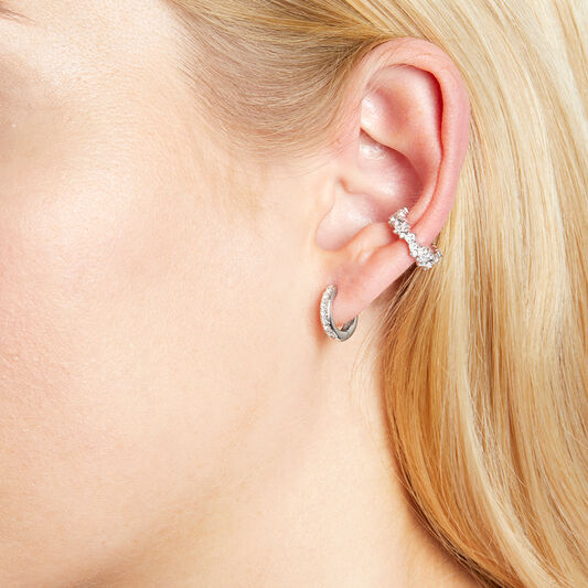 Mermaid Silver Ear Cuff