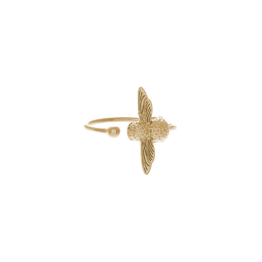3D Bee Ring Gold