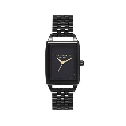 Classic Sparkle Tank Gloss Black Bracelet Watch