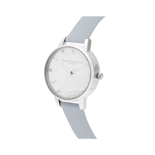 The Wishing Watch Vegan Chalk Blue & Silver