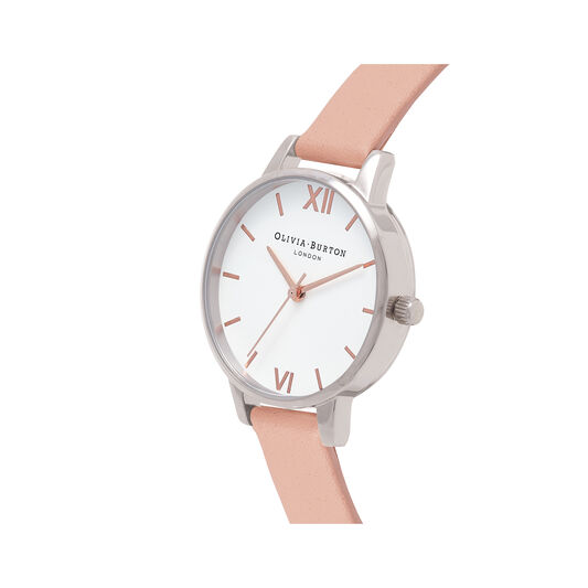 Midi White Dial Dusty Pink, Silver & Rose Gold Watch