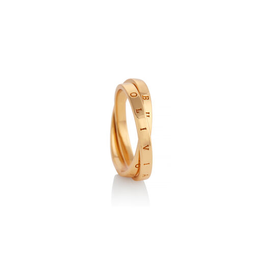 The Classics Interlink Ring Gold S