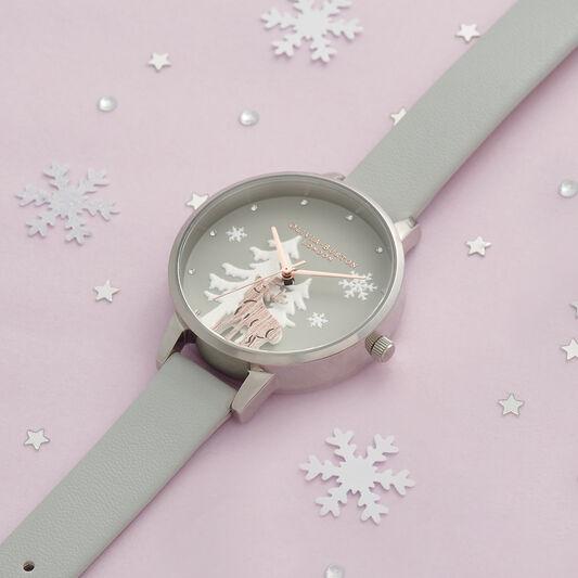 Winter Wonderland Vegan Gray, Rose Gold & Silver