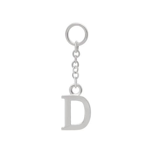 Initital Charm D Silver