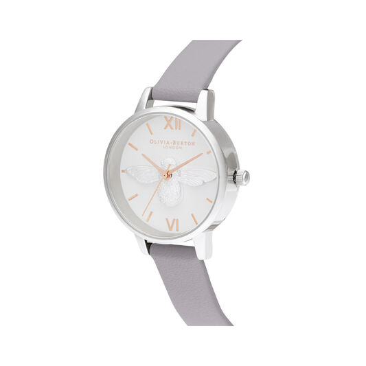 Midi Dial Grey Lilac Rose Gold & Silver
