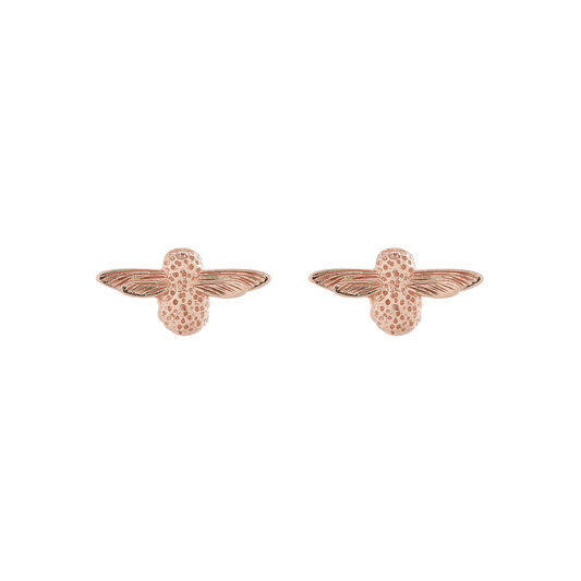 3D Bee Studs Rose Gold