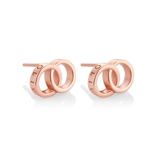 The Classics Interlink Earrings Rose Gold