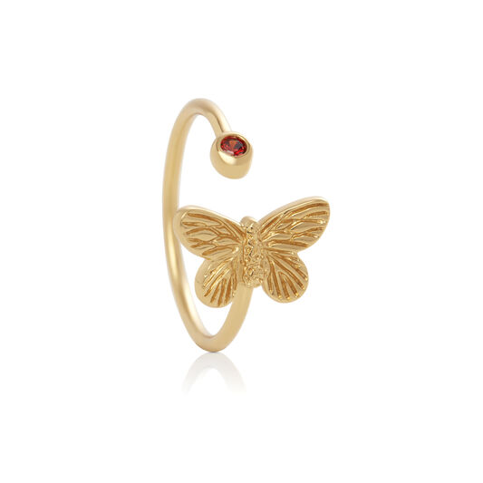 Bejewelled Butterfly CNY Gift Set Gold & Red Crystal
