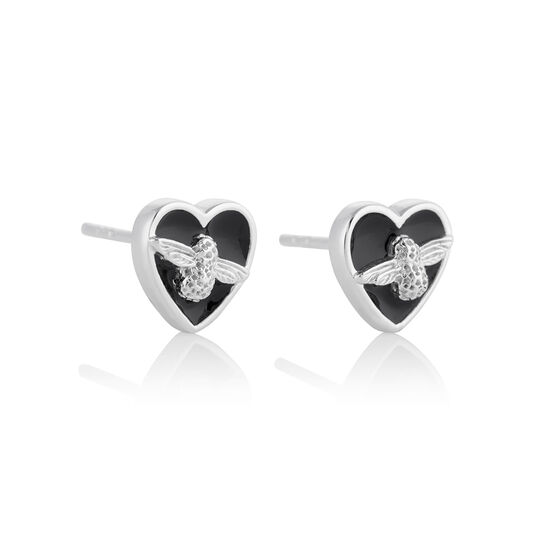 Love Bug Studs Black & Silver