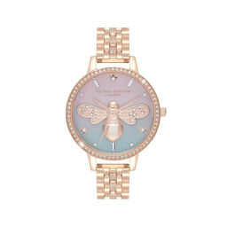 Sparkle Bee Ombre Mother Of Pearl Demi Dial Rose Gold Sparkle Watch
