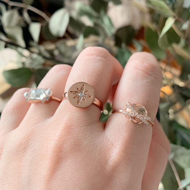 North Star Disc Rose Gold Ring