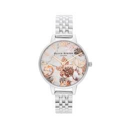 Marble Florals Rose Gold & Silver Bracelet
