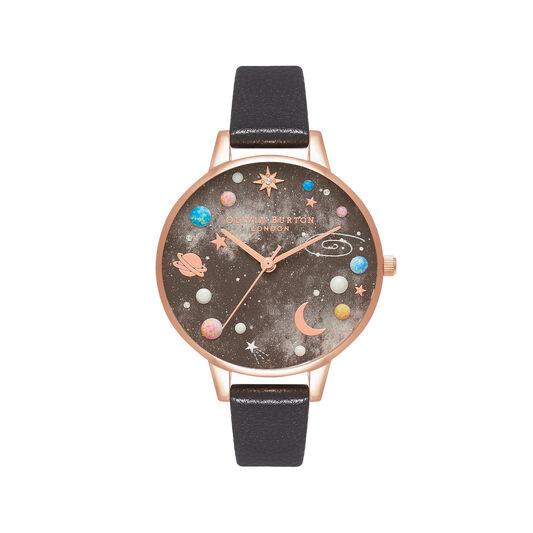 Celestial Demi Dial Black & Rose Gold Watch