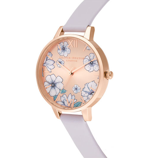 Groovy Blooms Parma Violet & Rose Gold Sunray