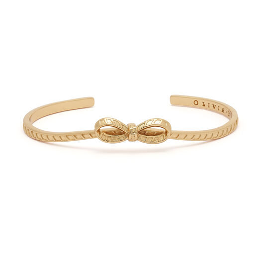 Bow Gold Bangle