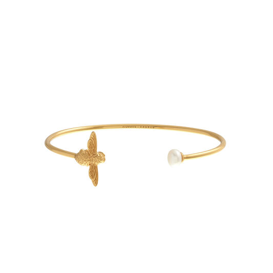 Pearl Bee Bangle Gold