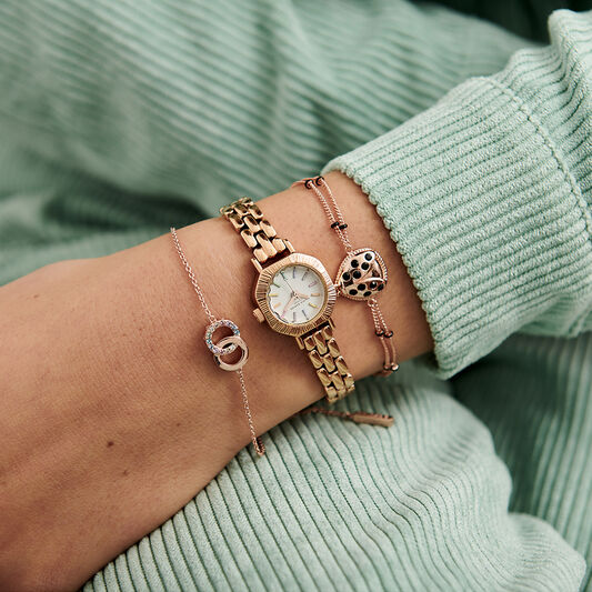 Rainbow Pale Rose Gold Bracelet