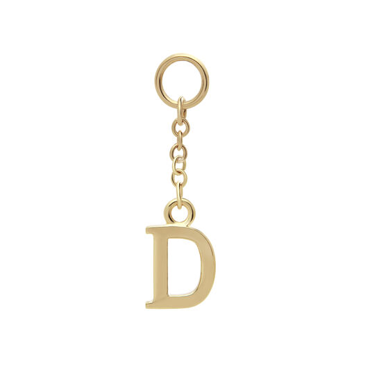 Initital Charm D Gold