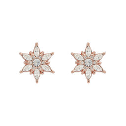 Snowflake Rose Gold Studs