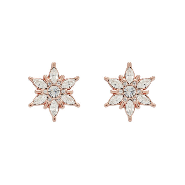 Snowflake Rose Gold Studs