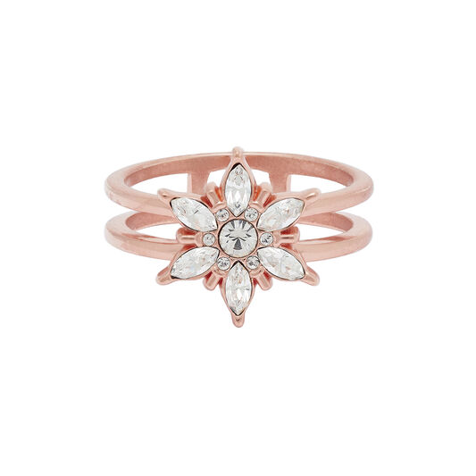 Snowflake Rose Gold Ring
