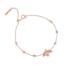 Rainbow Bee Rose Gold Chain Bracelet