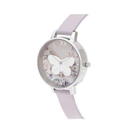 3D Butterly  Parma Violet & Silver