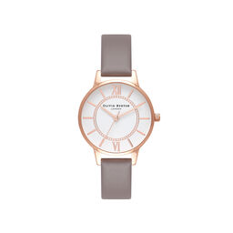 Wonderland London Grey & Rose Gold Watch