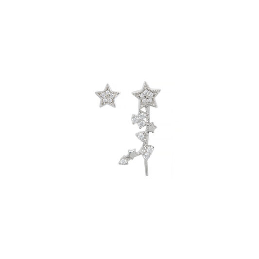 Celestial Star Crawler and Stud Earring
