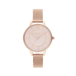 Wonderland Blush and Rose Gold Mesh Watch