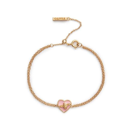 Love Bug Chain Bracelet Pink & Gold