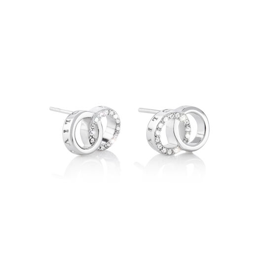 Bejewelled Interlink Earrings Silver