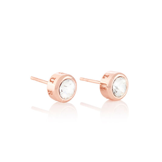BeJewelled Classics Round Stud Earring Rose Gold