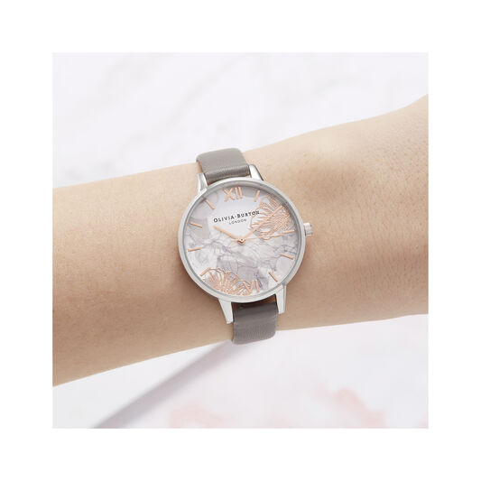 Abstract Florals Demi Dial Watch