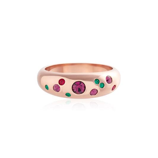 Jewel Tone Rainbow Rose Gold Ring