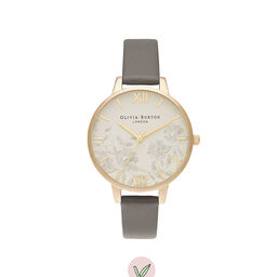 Demi Nude Dial Vegan London Grey & Gold