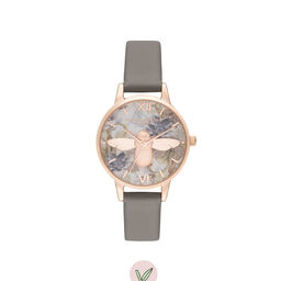 Midi 3D Bee Vegan London gray & Rose Gold