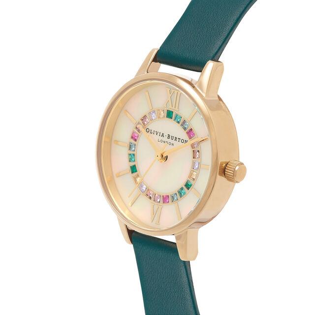 Sparkle Wonderland Cream Midi Dial, Teal & Gold Watch